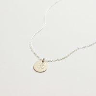 Silver OM yoga necklace