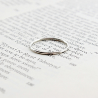 Silver stacking ring 1.2mm