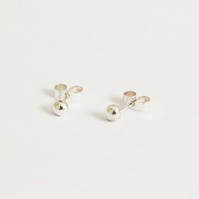 Recycled silver ear studs