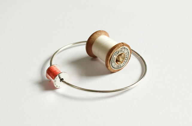 Cotton reel bangle