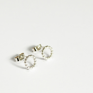 Silver Spirit earrings, circle earring studs