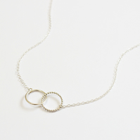 Spirit collection, circle necklace, silver circle, interlinking rings