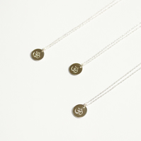 Yoga necklace, OM necklace, peace and harmony, silver necklace