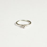 Recycled and eco silver ring, eco friendly