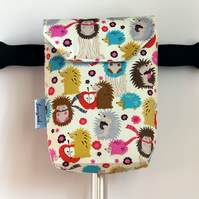 Cute Hedgehogs Micro Scooter or bicycle bag. Great gift for Boys and Girls