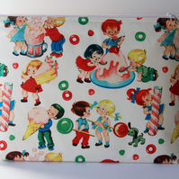Retro Vintage Style Candy Shop Kids Large Wash Bag. Great Gift for Ladies