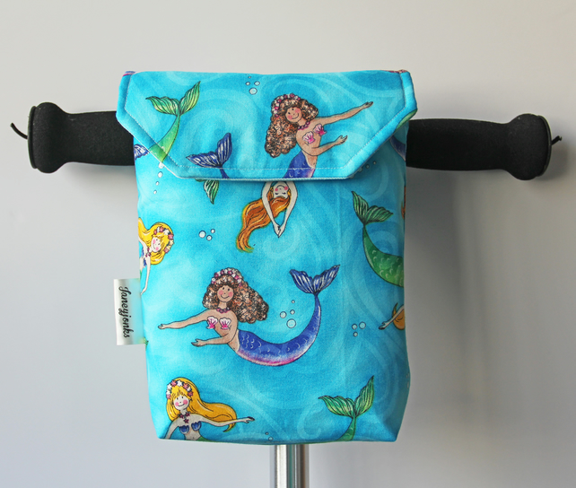 Cheeky Mermaids  Micro Scooter or bicycle bag. Great gift for Girls