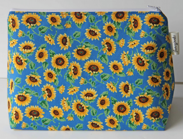 Fabulous Sunflowers Large Wash Bag. Great Gift for Ladies