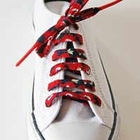 Cheerful Red Anemones Cotton Shoelaces. Great Gift