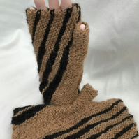 Hand Spun Alpaca Fingerless Gloves