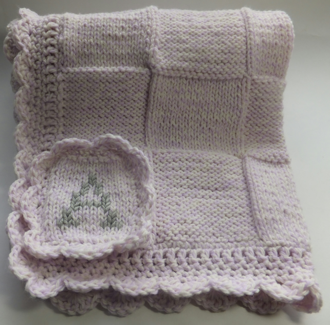 Knitting Edges For Baby Blankets : Handmade hand knitted crochet edging baby folksy