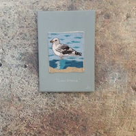 Stitched seabird interior wallpiece - 'Cool breeze'