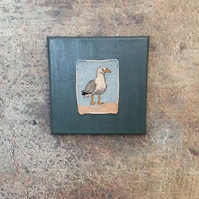Little stitched seagull interior wallpiece.
