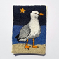 'Night bird' seagull brooch.