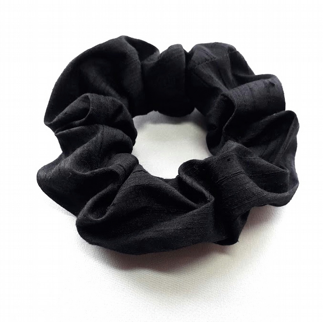 Black silk scrunchie.