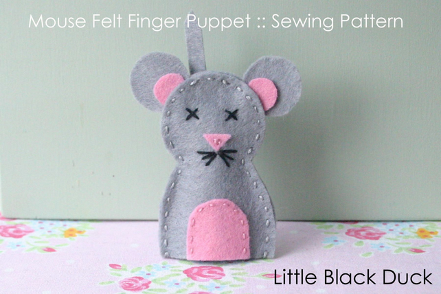 Mouse Finger Puppet Sewing Pattern
