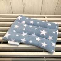 Wheat Bag in Blue Fleece Fabric with White Stars