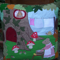 Mrs Mouse's Wash Day Cushion