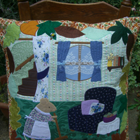 Mrs Mouse's Spring Cleaning Day Cushion