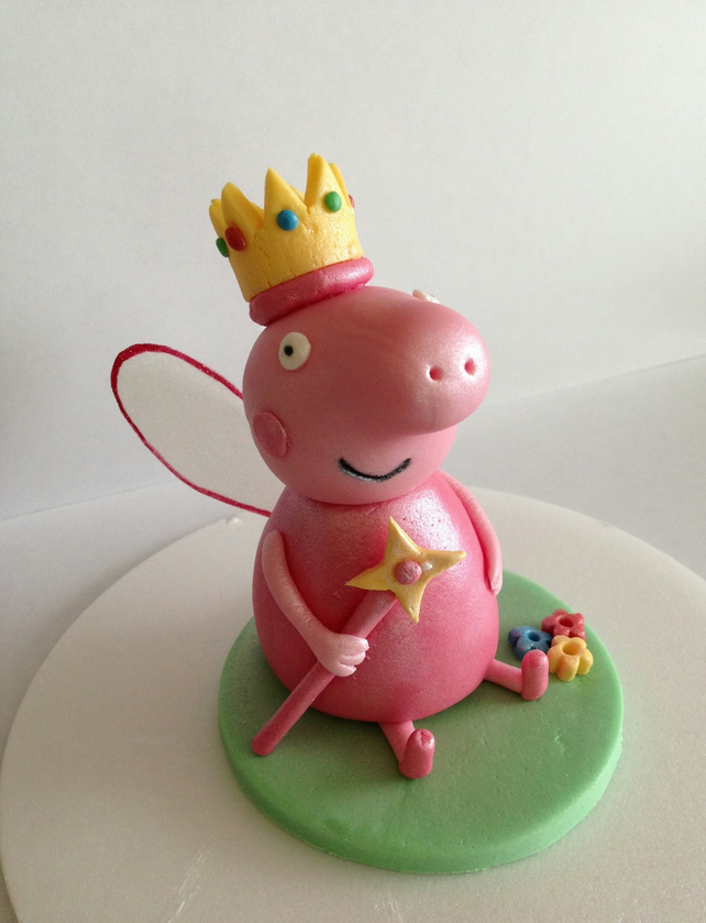 Fondant edible peppa princess cake topper folksy