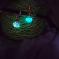Glow in the dark stitch markers for knitting and crochet.
