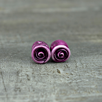 Baby Roses in Plum - Set of Two