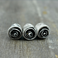 Charcoal Rose Bead