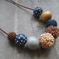 Brown and Navy Necklace