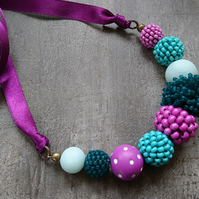 Violet and Teal Necklace