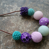 Purple and Turquoise Necklace