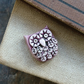 Wise Owl Bead in Dusky Pink