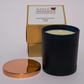 Maple Aromatics Eucalyptus and Lavender Blue Glass and Rose Gold Lid 200g Candle