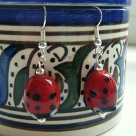 SOLD  Lady Bird Earrings