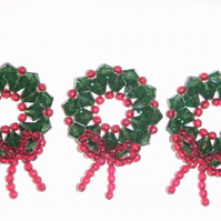 Christmas Wreaths Decorations X3