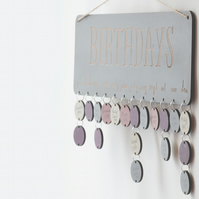 Grey Birthday Board - Family & Friends or Birthday