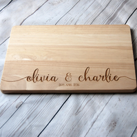 Custom Name chopping board for couples - Personalised Cutting board - Weddings