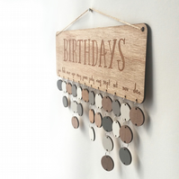 Natural Wood Birthday Board - Family & Friends or Birthdays