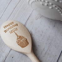 Personalised wooden Spoon - Happy Birthday - Cake baking gift - Goozeberry Hill