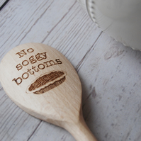 Personalised wooden Spoon - No Soggy Bottoms - Cake baking gift
