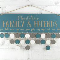 Blue Birthday Board - Family & Friends or Birthdays