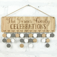 Personalised Celebrations Sign -  Cherrywood or Oak