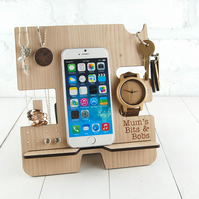 Personalised Docking Station & Jewellery Stand