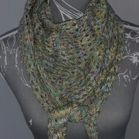Hand Knitted Scarf, Cowl