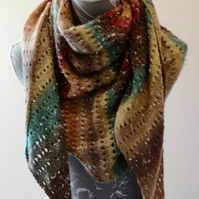 Hand Knitted Scarf, Cowl, Shawl
