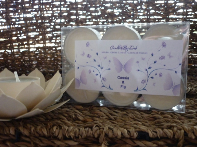CASSIS & FIG - NATURAL SOY CANDLES - TEA LIGHTS -   022