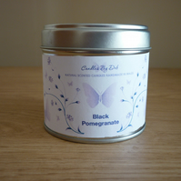 BLACK POMEGRANATE - NATURAL SOY SCENTED CANDLE - MEDIUM TIN.