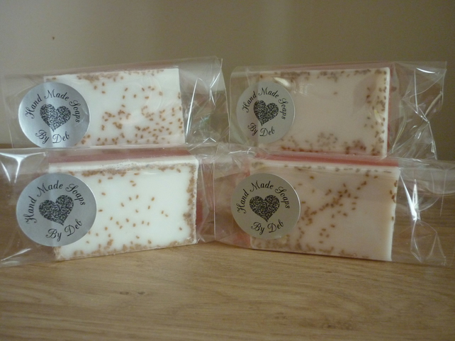 CREAMY COCONUT, MANGO OATS & SEEDS -  SOAP BAR.