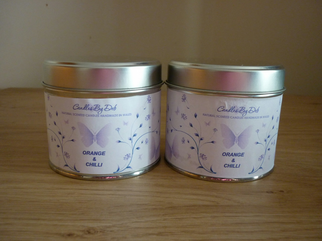 ORANGE & CHILLI - SOY SCENTED CANDLES - MEDIUM TIN