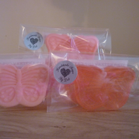 STRAWBERRY CUP CAKE - BUTTERFLY SOAPS.