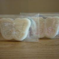 BLUEBERRY & VANILLA - BUTTERFLY SHAPED SOAPS